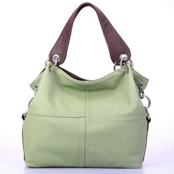niceEshop Fashion Retro Style PU Leather Messenger Bag Tote Bag for Women, Green - intl