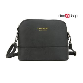 niceEshop Women Vintage Frosted PU Leather Messenger Bag, Black
