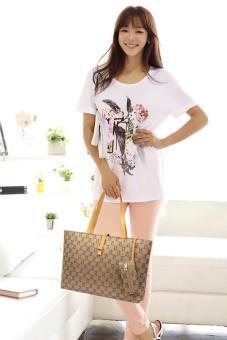 niceEshop Womens Nylon Tote Bag Shoulder Handbag With Zipper For Shopping, Khaki - 4