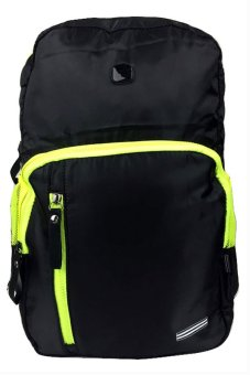 Nick 238 Backpack (Black)With Free LED Watch (Assorted Color)