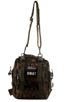 NICK Co 018 Multicom Military Messenger Bag (Olive/Brown)