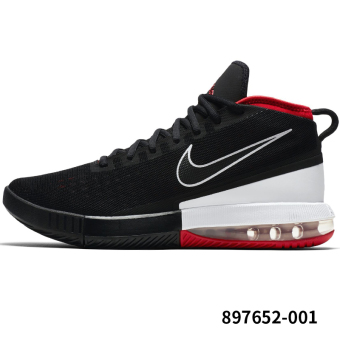 Nike Air Combat basketball shoes men's shoes (Black/white/university red)