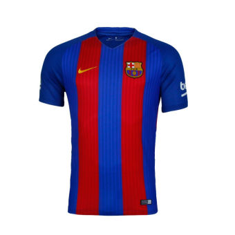 Nike Barcelona 16-17 new season home Barcelona men's soccer short sleeved Jersey 776850-481