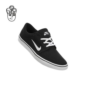 Nike SB Portmore Canvas Skateboard Shoes Black / White 723874-003 -SH - 2