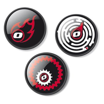 Nikidom Roller Fire Button Pin Set of 3 (Multicolor) Price Philippines