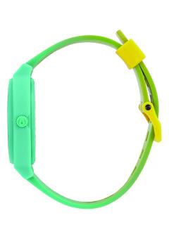 Nixon Time Teller P Unisex Yellow/Teal Fade Polyurethane Strap Watch A119-1385 - 2
