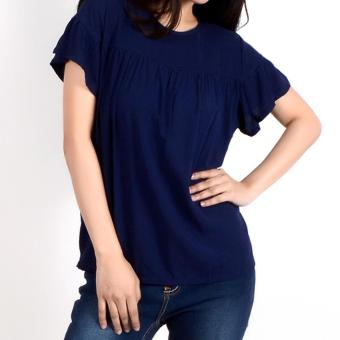No Apologies Plain Rayon S/S Blouse Nlt04-1772 (N.Blue) Price Philippines