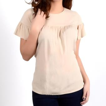No Apologies Plain Rayon S/S Blouse Nlt04-1772 (Semolina) Price Philippines