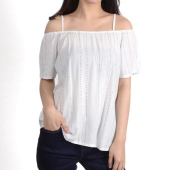 No Apologies Printed Rayon Off Shoulder Blouse Nlt04-1767 (O.White)