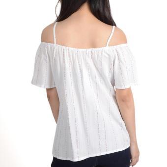 No Apologies Printed Rayon Off Shoulder Blouse Nlt04-1767 (O.White) - 3