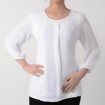 No Apologies Quarter Sleeves Blouse NFT04-0168 (Off White)