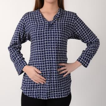 No Apologies Quarter Sleeves Blouse NLT04-1651 (Navy Blue)