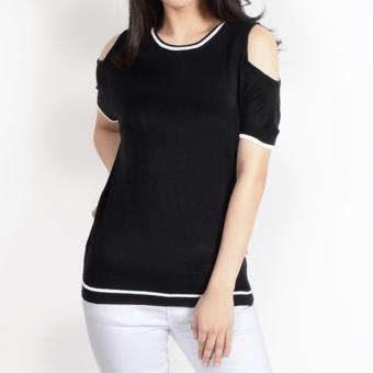 No Apologies Special Fabric S/S Blouse Nlt12-0215 (Black) Price Philippines