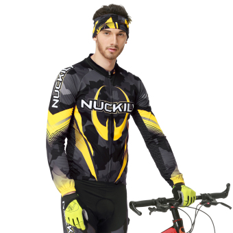 NUCKILY Men's Cycling Apparel Bike Jersy Tights Outfit for RoadRiding Small - 3
