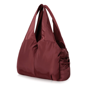 Nylon anti-splash water Oxford Cloth women's bag large bag (Wine red color)