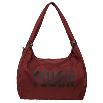 Nylon cloth New style portable shoulder cloth bag (Dark wine red)