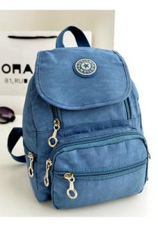 Nylon leisure Backpack (Light Blue)