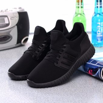 Ocean 2017 New Lady movement Running shoes leisure breathable Net cloth Sports shoes (Black) - intl