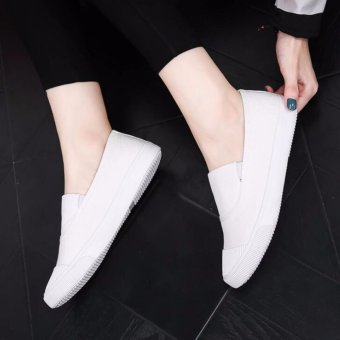 Ocean NEW Ladies fashion Flat shoes Han edition Canvas shoes(White) - intl