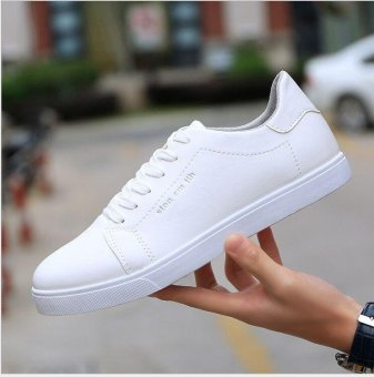 Ocean Ocean leather shoes Men's Fashion Sneakers TrendBreathable(White) - intl - 2