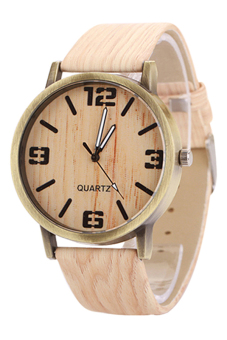OEM Fashion Women's Beige Leather Strap Watch 10312 Beige Price Philippines