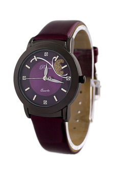 OEM Fashion Women's Purple Leather Strap Watch 8679 Purple Price Philippines