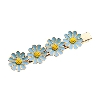 OEM Women's Hair Clip sweet flower Barrette Hair Stylers (Blue)