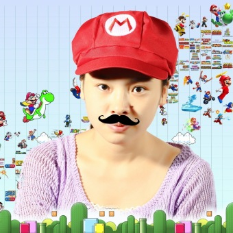 OH Chic Luigi Super Mario Bros Cosplay Adult Size Hat Cap Baseball Costume New Red M - 5