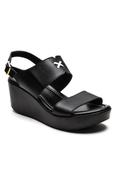 Ohrelle Annelle Wedge Sandals (Black)