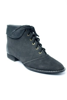 Ohrelle Kaya Collared Lace-Up Boots (Black) Price Philippines