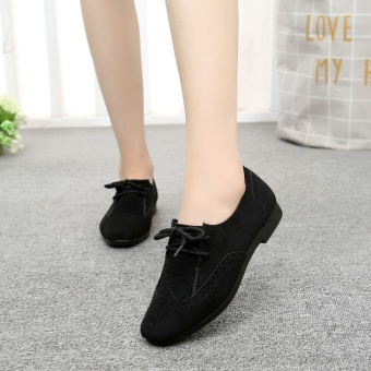 Old Beijing female spring New style shoes Shoes (Black)