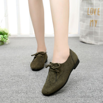 Old Beijing female spring New style shoes Shoes (Dark green color)
