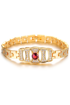 Olen 18k Gemstone with Crystal Bracelet Gold