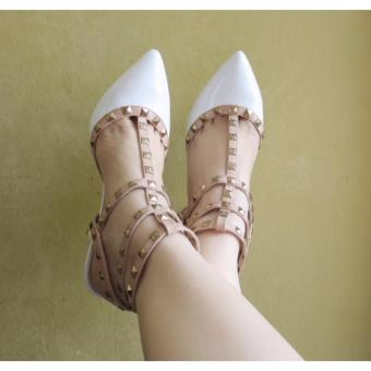 Olivia Heeled Shoes (White) Price Philippines