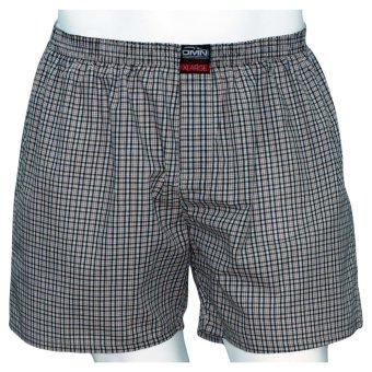 Omni By SO-EN Men's Checkered Boxer Short (Brown Black)