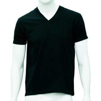 Omni By SO-EN Men's V-Neck T-Shirt (Black)
