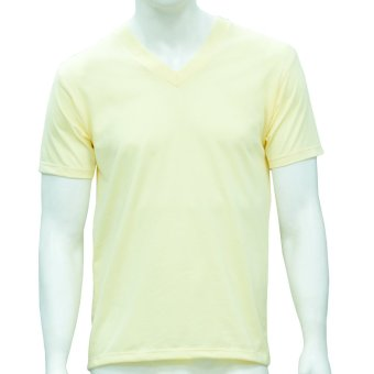 Omni By SO-EN Men's V-Neck T-Shirt (Lt. Yellow)