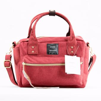 Original Anello Square Mini Boston 2 Way Shoulder Bag AT-C1223(Red)