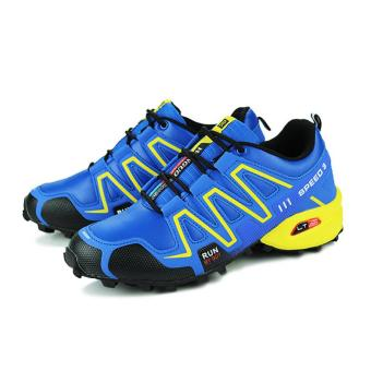 Outdoor Breathable Hiking Running Shoe Sneakers(Blue) - intl
