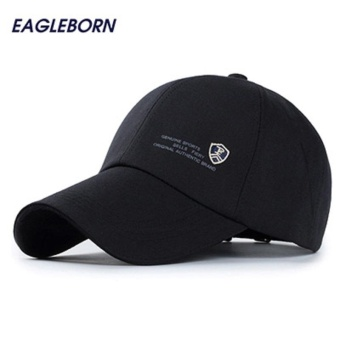 Outdoor casual baseball cap men genuine sports letter shield logo snapback caps cotton sun fashion running hats for men(Black) - intl