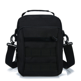 Outdoor travel trendy bag men's casual bag (Black)