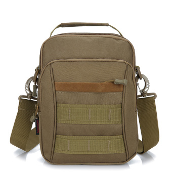 Outdoor travel trendy bag men's casual bag (Khaki)