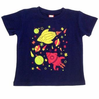 Outer Space Navy Blue Kids Shirt Price Philippines