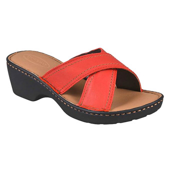 Outland Jessica Sandals (Red Orange/Light Brown)