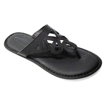 Outland Kiana Slippers (Black SHN/Black)