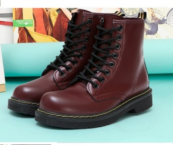 Outlet Martin boots female British boots Brown