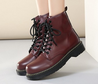 Outlet Martin boots female British boots Brown - 3