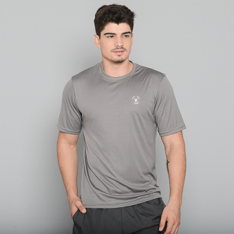 Outperformer Men's Running Cycling Fitness T-Shirt with ExtraStretch and Dryperform Technology (Grey)