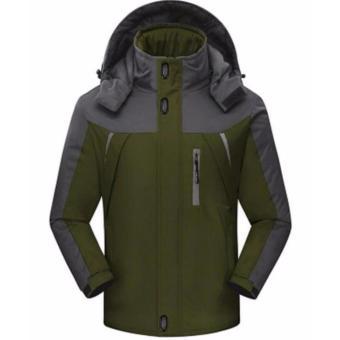 Outwear Waterproof Coats Men Jacket Windproof Thermal Hooded CoatWinter Jacket Men Wind Parka - intl - 2