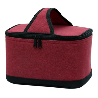 Oxford Lunch Bag Simple Insulated Lunch Handbag for School &Office (red) - intl Price Philippines